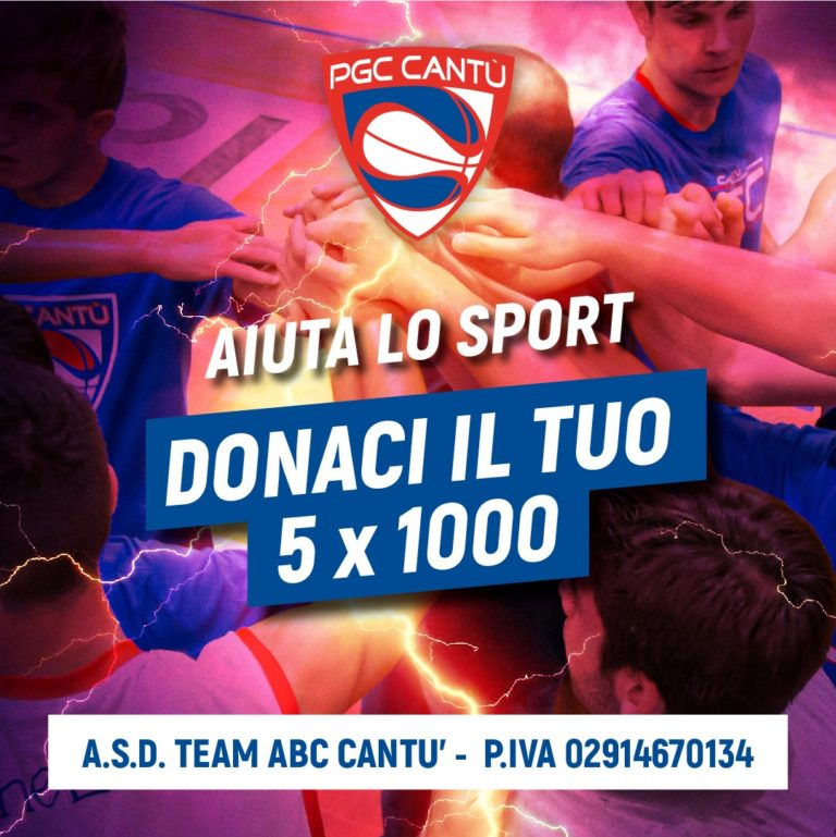 Sostieni il PGC e devolvi il 5X 1000 all' A.S.D  TEAM ABC CANTU'